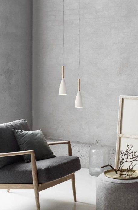 Pure  Lampa wisząca – Styl skandynawski – kolor biały, mat