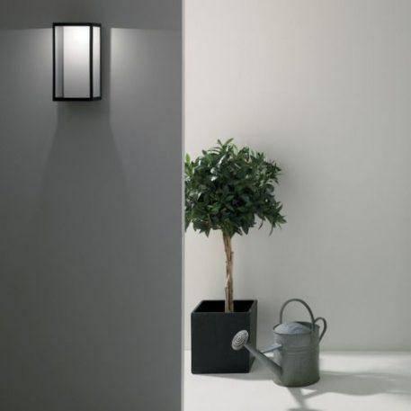 Puzzle Lampa zewnętrzna – Styl nowoczesny – kolor transparentny, Czarny