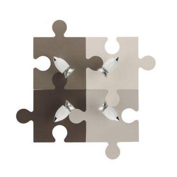 Puzzle  Reflektor – kolor beżowy, brązowy