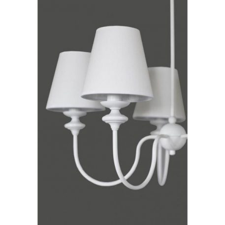 Rafaello  Żyrandol – Z abażurem – kolor biały
