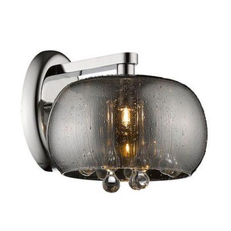 Rain Lampa nowoczesna – Styl glamour – kolor srebrny, transparentny, Szary