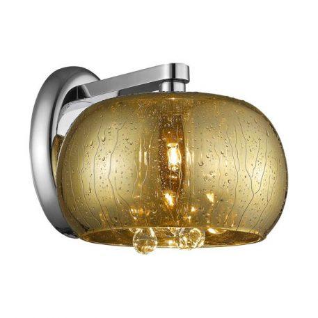 Rain Lampa nowoczesna – Styl glamour – kolor srebrny, transparentny, złoty