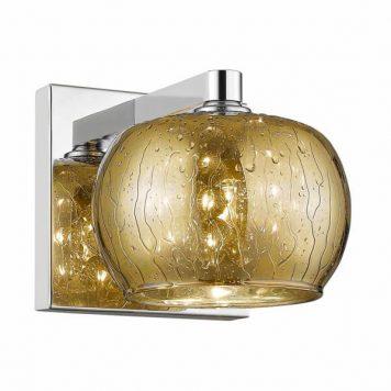 Rain Lampa nowoczesna – Styl glamour – kolor złoty