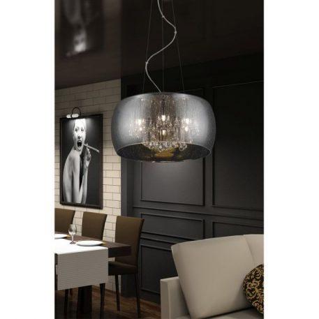 Rain Lampa wisząca – kryształowe – kolor srebrny
