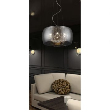 Rain Lampa wisząca – szklane – kolor srebrny