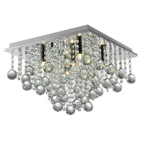 Rangel  Lampa sufitowa – kryształowe – kolor srebrny, transparentny