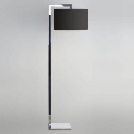 Ravello Lampa podłogowa – Z abażurem – kolor srebrny
