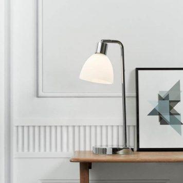 Ray Lampa stołowa – Styl nowoczesny – kolor biały, srebrny