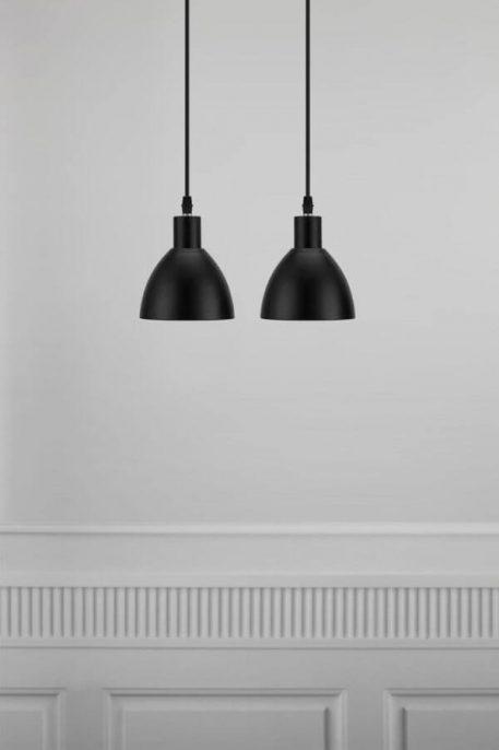 Ray Lampa wisząca – szklane – kolor Czarny