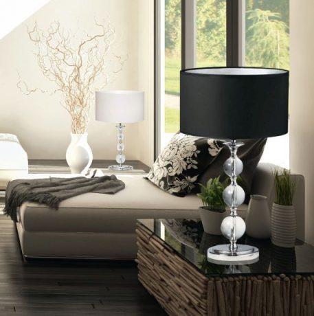 Rea Lampa modern classic – klasyczny – kolor transparentny, Czarny