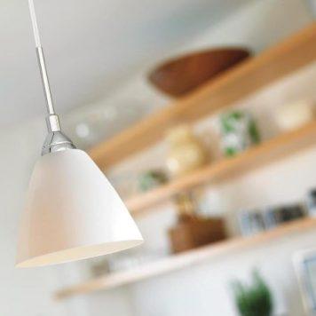 Read Lampa wisząca – Styl nowoczesny – kolor biały, połysk