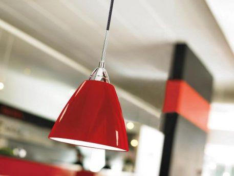 Read Lampa wisząca – Styl nowoczesny – kolor Czerwony