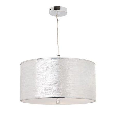 Rebolo  Lampa wisząca – Z abażurem – kolor srebrny