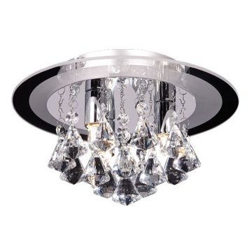 Renner Lampa sufitowa – Styl glamour – kolor srebrny