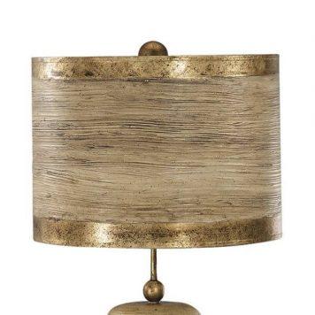 Retri Lampa klasyczna – klasyczny – kolor beżowy, brązowy, złoty