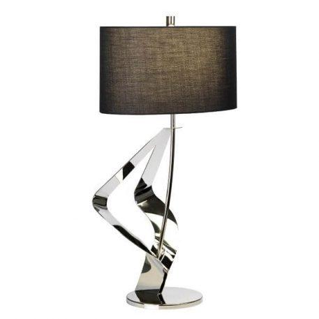 Ribbon  Lampa nowoczesna – Z abażurem – kolor srebrny, Czarny