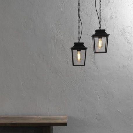Richmond  Lampa zewnętrzna – klasyczny – kolor transparentny, Czarny
