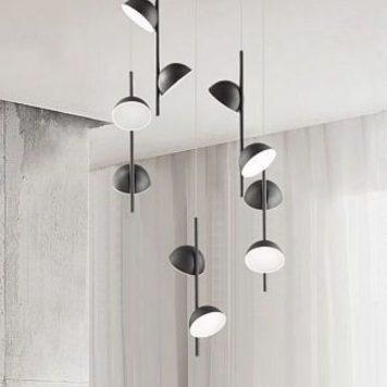 Rigatoni Lampa wisząca – Lampy i oświetlenie LED – kolor Czarny
