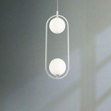 Ring  Lampa wisząca – szklane – kolor biały