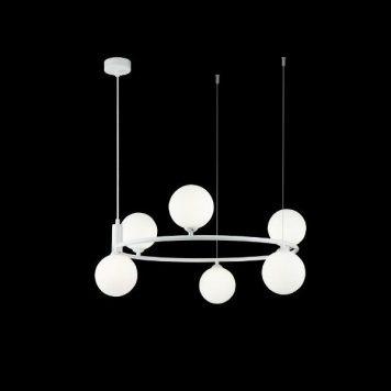 Ring  Żyrandol – Styl nowoczesny – kolor biały