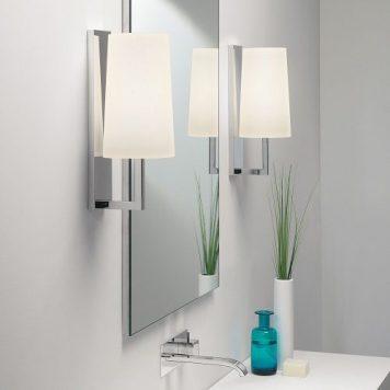 Riva Lampa klasyczna – szklane – kolor biały, srebrny