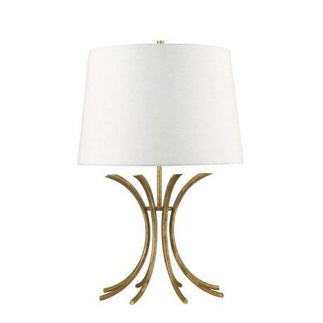 Rivers Lampa modern classic – Z abażurem – kolor beżowy, biały, złoty