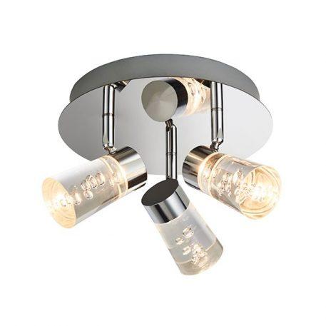 Rocco  Lampa sufitowa – Lampy i oświetlenie LED – kolor srebrny, transparentny