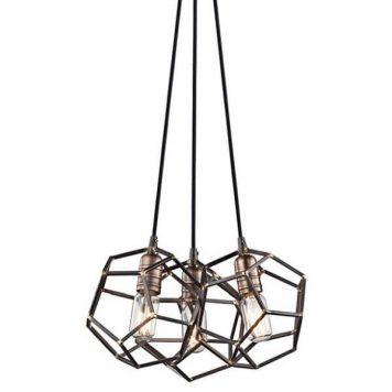 Rocklyn Lampa wisząca – industrialny – kolor brązowy