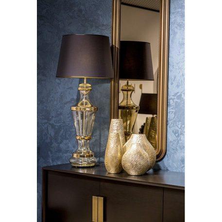 Roma Gold Lampa modern classic – Styl glamour – kolor transparentny, złoty, Czarny