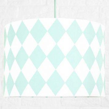 Romby  Lampa wisząca – Styl nowoczesny – kolor biały, Zielony