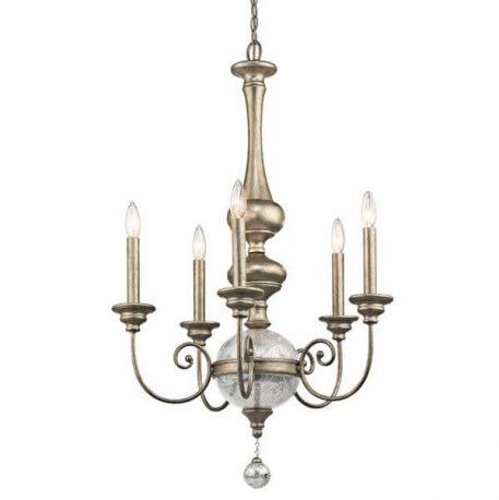 Rosalie Żyrandol – klasyczny – kolor srebrny, złoty