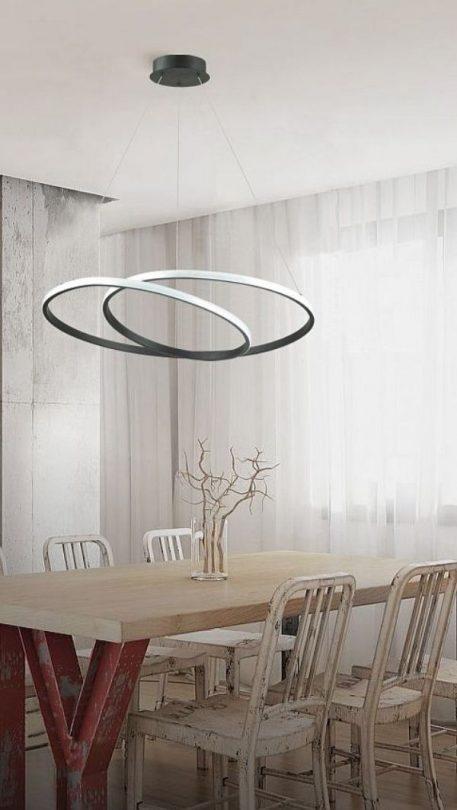 Rosso Lampa wisząca – Lampy i oświetlenie LED – kolor Czarny