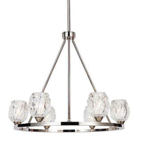 Rubin Żyrandol – Styl glamour – kolor srebrny