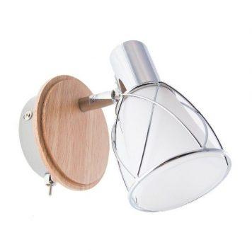 Rustic Lampa nowoczesna – Styl nowoczesny – kolor biały, srebrny