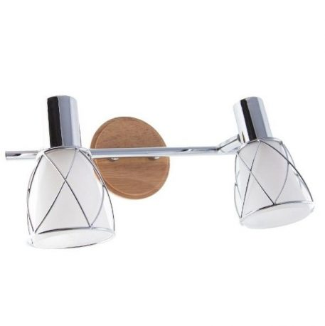 Rustic  Lampa nowoczesna – szklane – kolor biały, srebrny