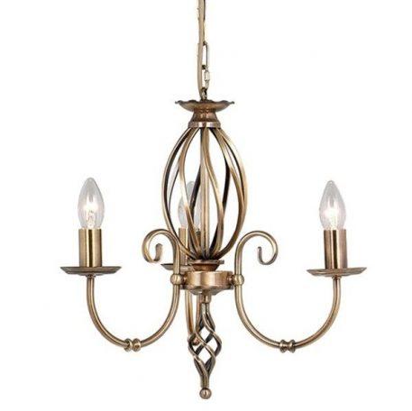 Rustic Żyrandol – Świecznikowe – kolor mosiądz, złoty