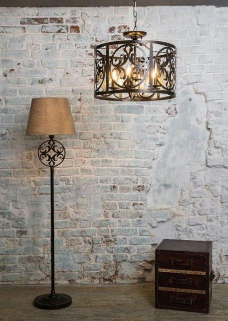 Rustika Lampa wisząca – klasyczny – kolor brązowy