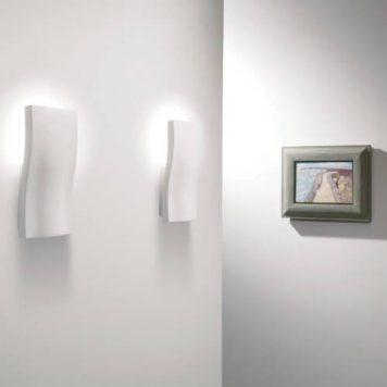 S-Light Lampa nowoczesna – Gipsowe – kolor biały
