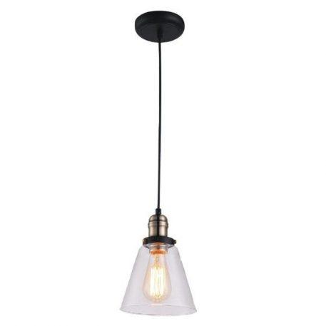 Samanta Lampa wisząca – industrialny – kolor transparentny, Czarny