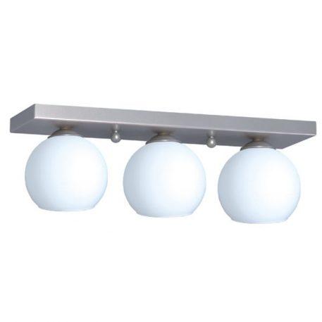 Satin  Lampa sufitowa – szklane – kolor biały, srebrny