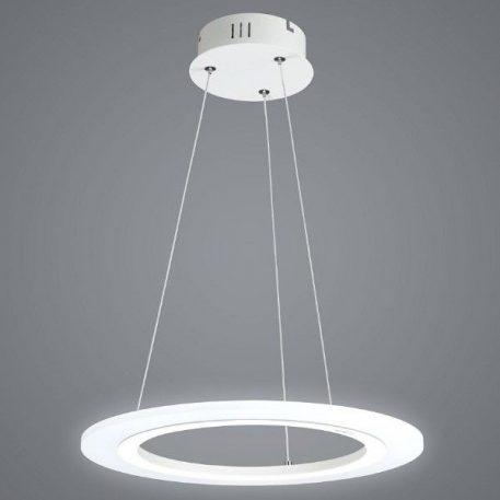 Saturn Ring Lampa wisząca – Styl nowoczesny – kolor biały, srebrny