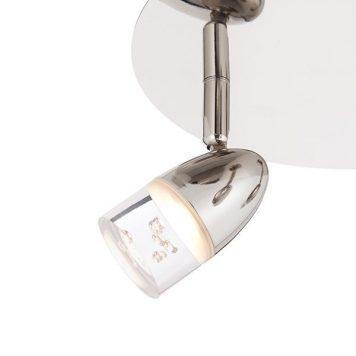 Saul Lampa sufitowa – Lampy i oświetlenie LED – kolor srebrny
