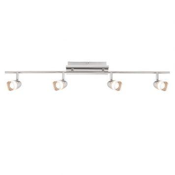 Saul  Lampa sufitowa – Styl nowoczesny – kolor srebrny, transparentny