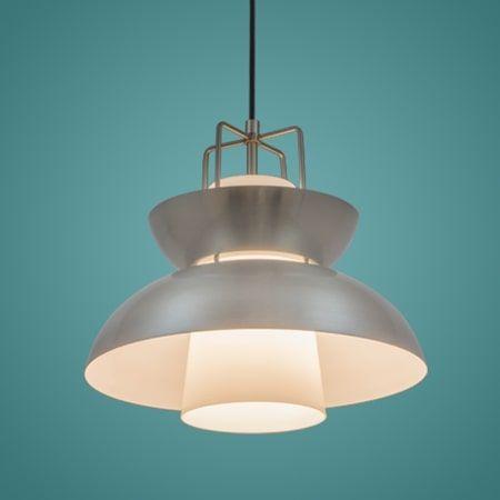 Scandinavian  Lampa wisząca – Styl skandynawski – kolor srebrny