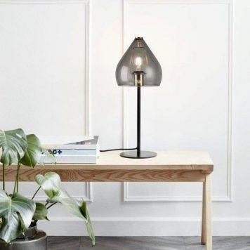 Sence  Lampa stołowa – szklane – kolor transparentny, Szary