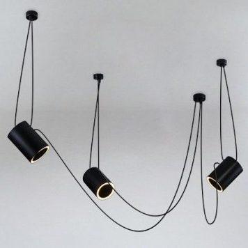 Sento Żyrandol – Styl nowoczesny – kolor Czarny