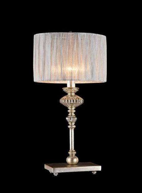 Serena Antique Lampa klasyczna – Z abażurem – kolor złoty, Szary