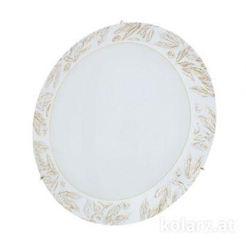 Serena Lampa sufitowa – klasyczny – kolor biały, złoty