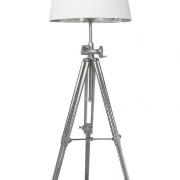 Seville Lampa podłogowa – industrialny – kolor biały, srebrny