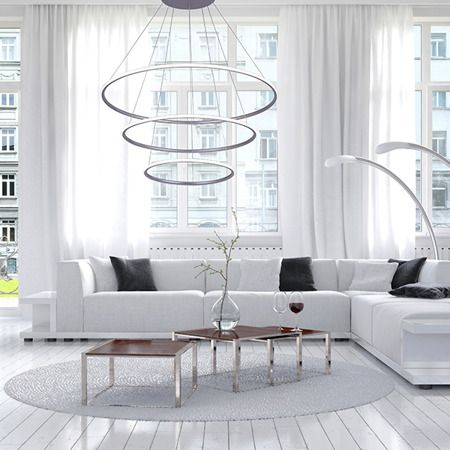 Shape  Lampa wisząca – Lampy i oświetlenie LED – kolor srebrny